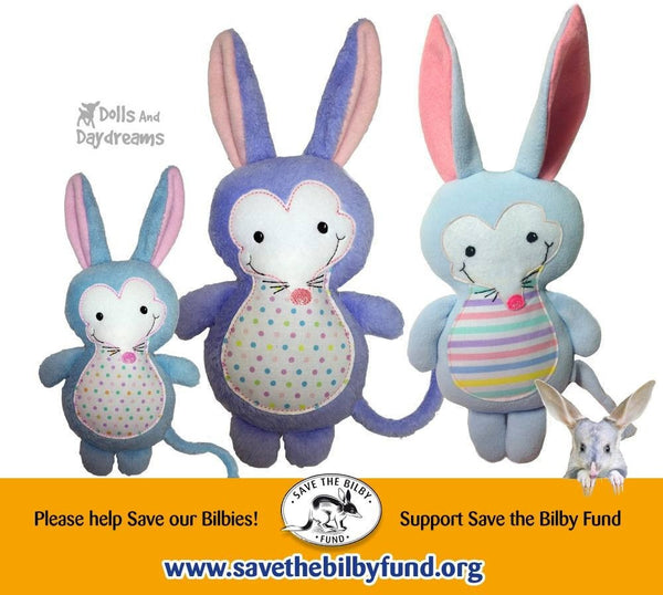 Bilby Mole Sewing Pattern - Dolls And Daydreams - 3