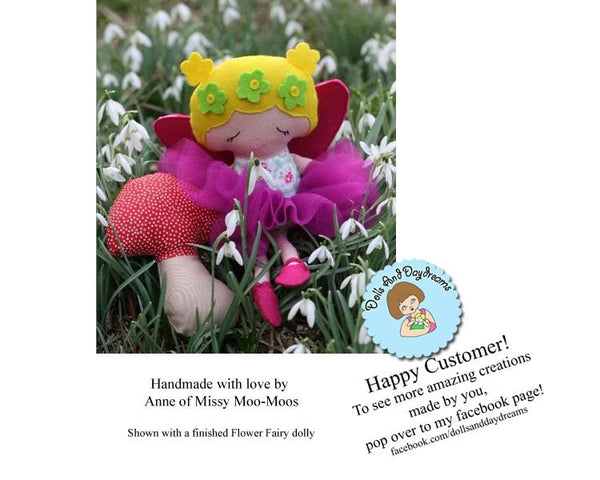 Mushroom Baby Rattle Sewing Pattern - Dolls And Daydreams - 4