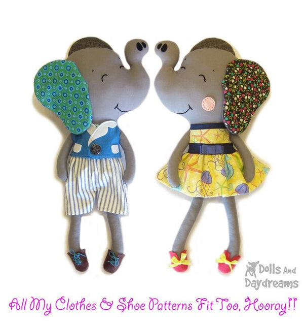 Elephant Sewing Pattern - Dolls And Daydreams - 5