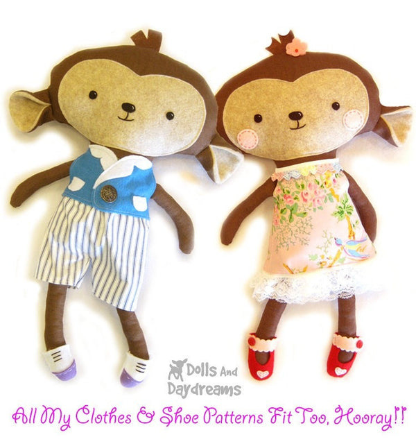 Monkey Sewing Pattern - Dolls And Daydreams - 5