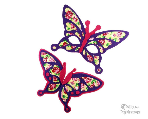 Butterfly Mask & Wing Pattern - Dolls And Daydreams - 2
