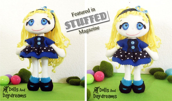 Fefe Fleece Dolly Sewing Pattern - Dolls And Daydreams - 2