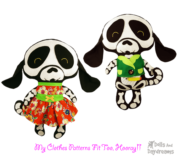 Skeleton Dog Sewing Pattern - Dolls And Daydreams - 4