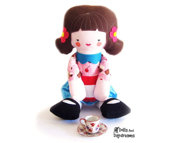 Big Doll Sewing Pattern - Dolls And Daydreams - 1