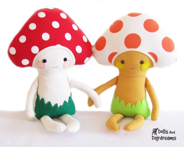 Mushroom Babies Sewing Pattern - Dolls And Daydreams - 2