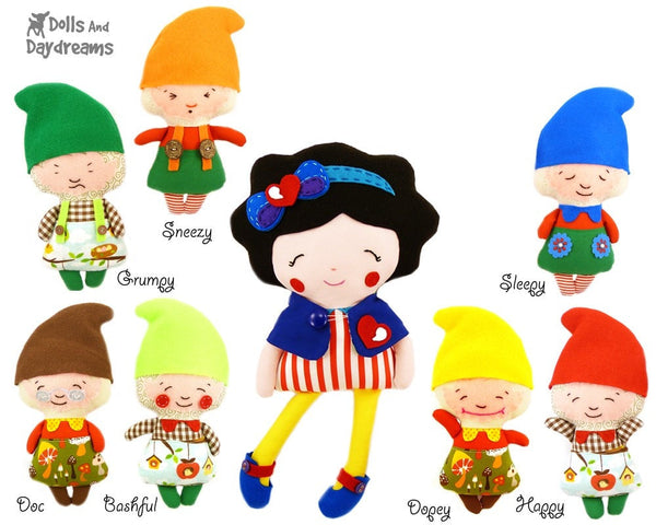 Snow White and The Seven Dwarfs Sewing Pattern - Dolls And Daydreams - 2