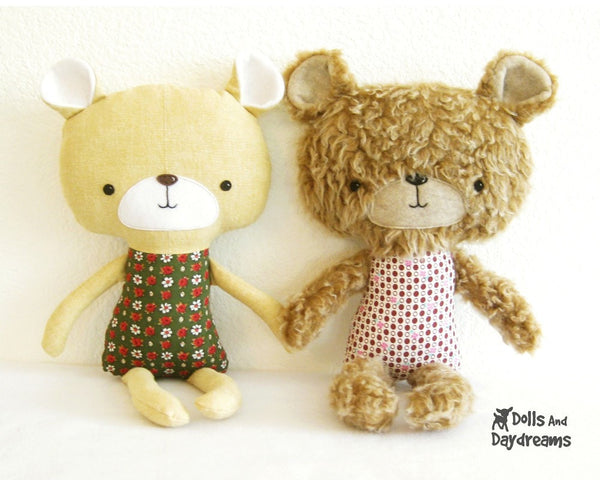 Teddy Bear Sewing Pattern - Dolls And Daydreams - 2
