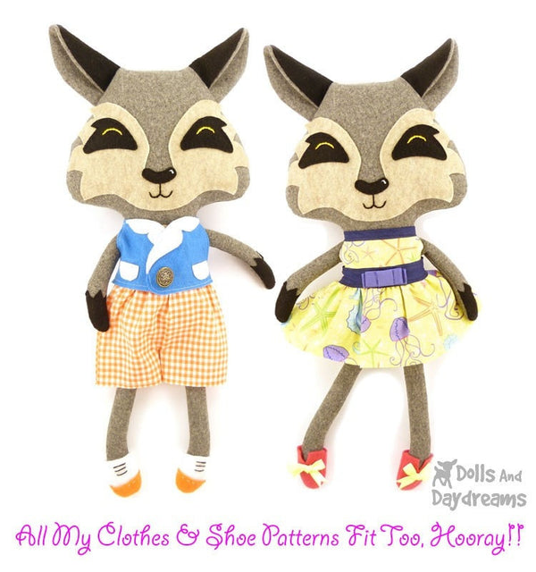 Wolf Sewing Pattern - Dolls And Daydreams - 5