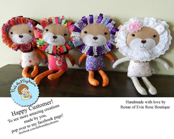 Lion Sewing Pattern - Dolls And Daydreams - 5