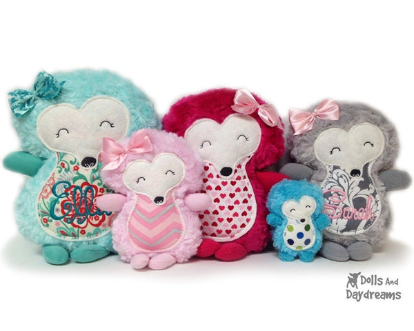 Embroidery Machine Hedgehog ITH Pattern - Dolls And Daydreams - 3
