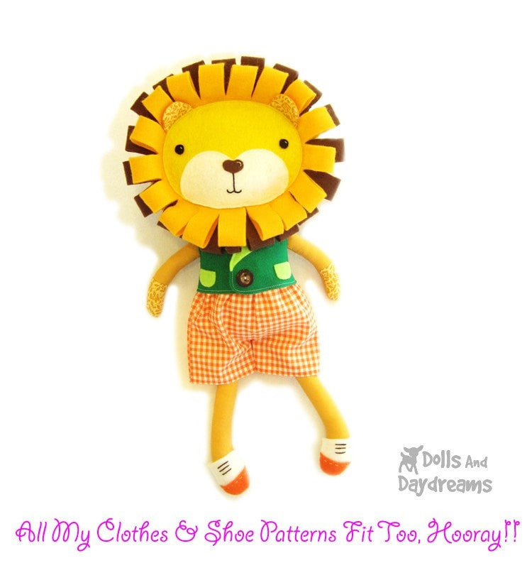 Lion Sewing Pattern | Dolls And Daydreams