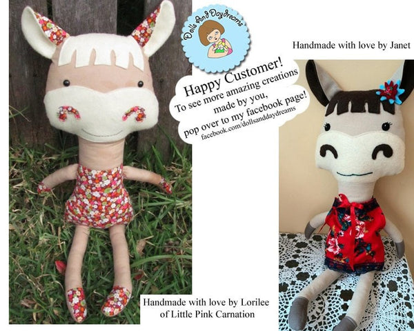 Horse and Zebra Sewing Pattern - Dolls And Daydreams - 7