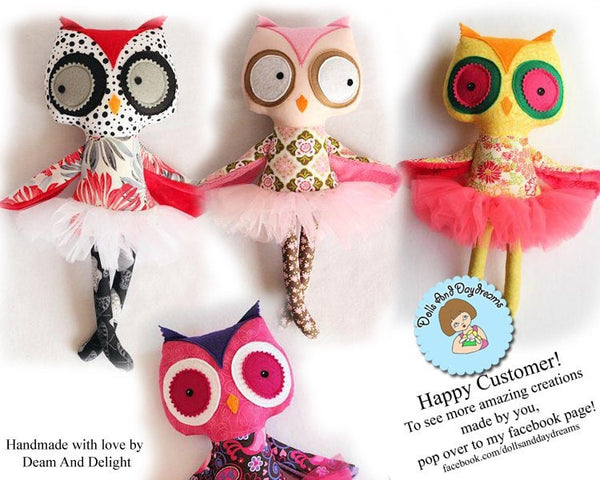 Owl Sewing Pattern - Dolls And Daydreams - 6