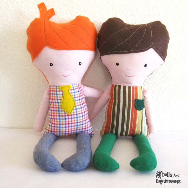 Easy Boy Doll Sewing Pattern - Dolls And Daydreams - 2