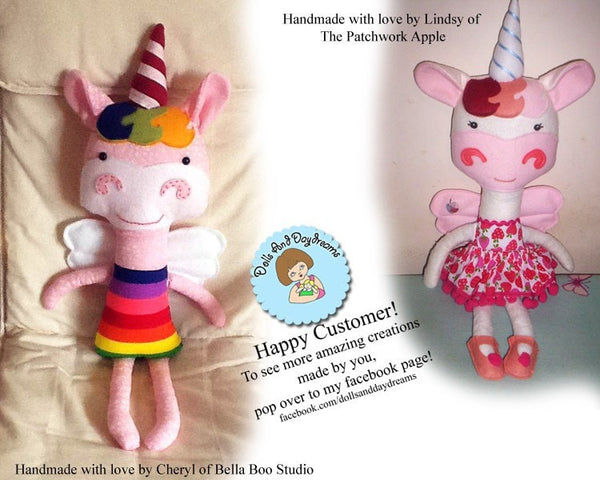 Unicorn Sewing Pattern - Dolls And Daydreams - 6