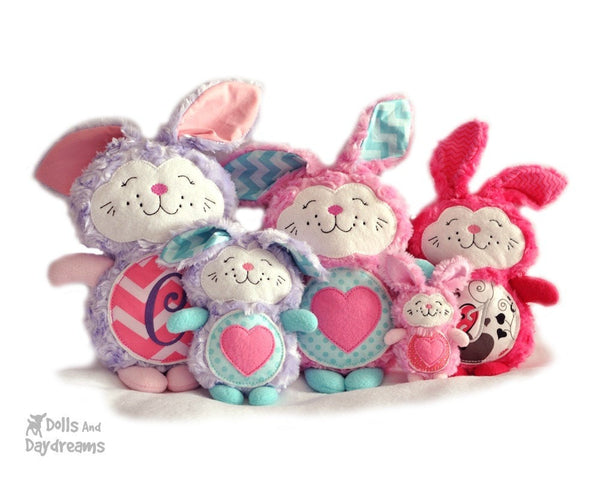 Embroidery Machine Bunny Rabbit Pattern - Dolls And Daydreams - 4