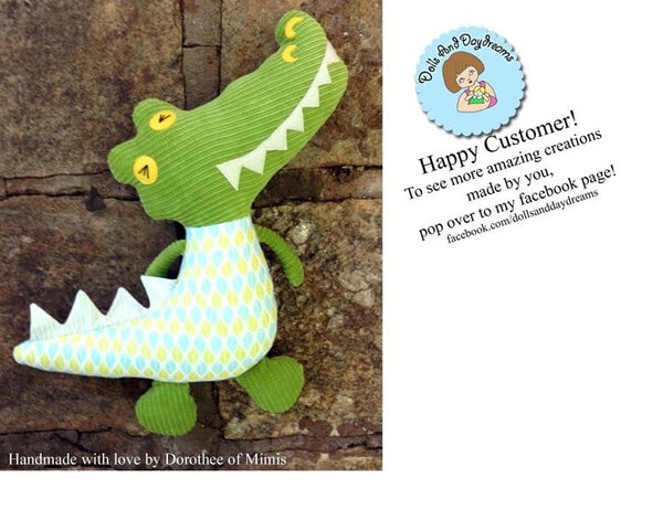 Crocodile Sewing Pattern - Dolls And Daydreams - 4