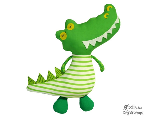 Crocodile Sewing Pattern - Dolls And Daydreams - 1