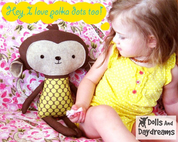 Monkey Sewing Pattern - Dolls And Daydreams - 4
