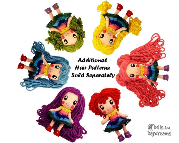 Rainbow Babies Jointed Doll Sewing Pattern - Dolls And Daydreams - 4