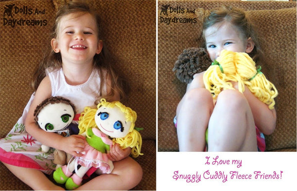 Fefe Fleece Dolly Sewing Pattern - Dolls And Daydreams - 5
