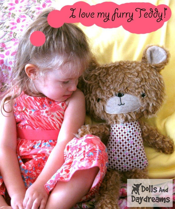 Teddy Bear Sewing Pattern - Dolls And Daydreams - 6