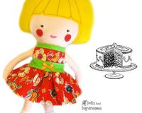 Party Dress Sewing Pattern - Dolls And Daydreams - 1