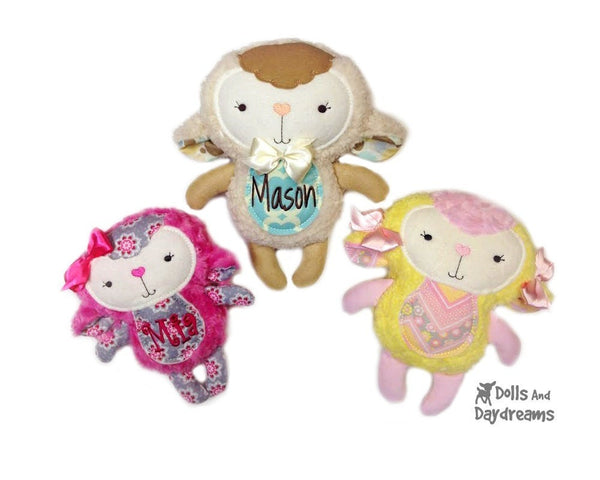 Embroidery Machine Lamb ITH Pattern - Dolls And Daydreams - 1