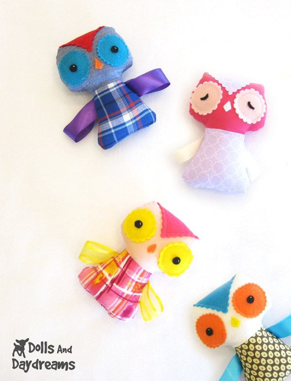 Baby Owl Ribbon Tag Sewing Pattern - Dolls And Daydreams - 5