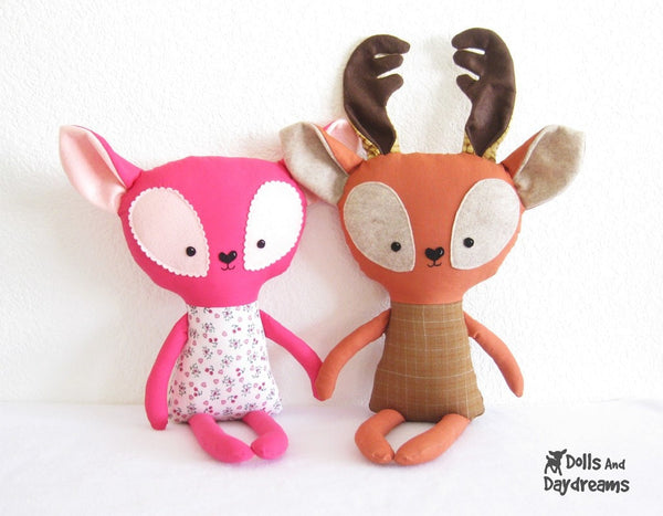 Rudolph Reindeer Sewing Pattern - Dolls And Daydreams - 3