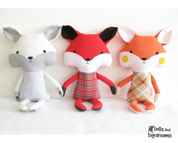 Fox Sewing Pattern - Dolls And Daydreams - 2