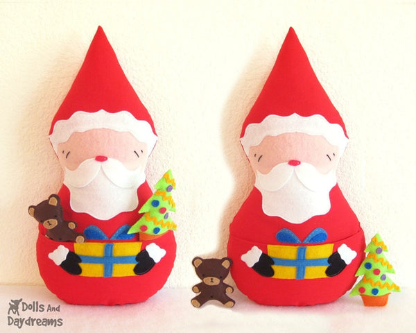 Santa Claus Father Christmas Sewing Pattern - Dolls And Daydreams - 2