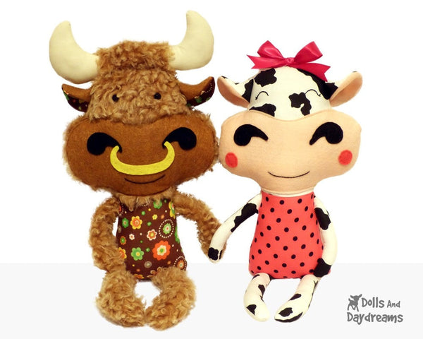 Cow Sewing Pattern - Dolls And Daydreams - 2
