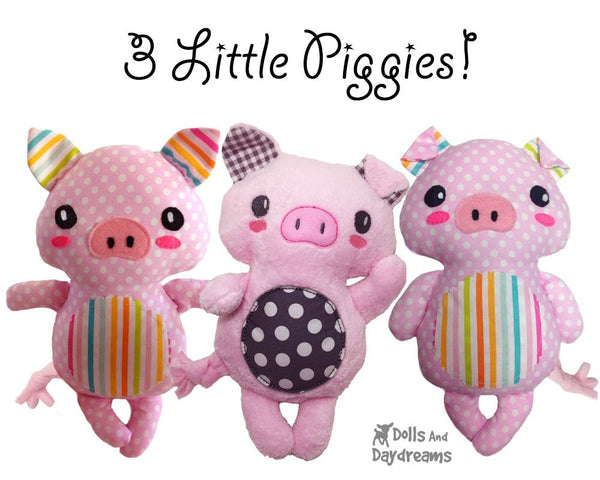 Piglet Sewing Pattern - Dolls And Daydreams - 3