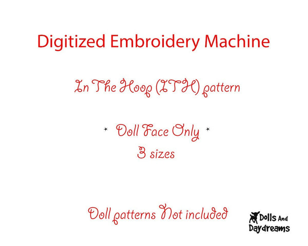 Machine Embroidery Babushka Doll Face Pattern - Dolls And Daydreams - 2