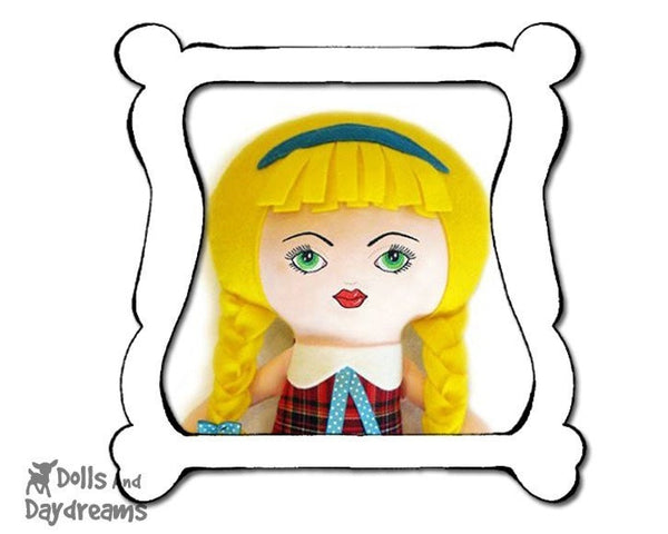 Hand Embroidery or Painting Art Doll Face Pattern - Dolls And Daydreams - 1