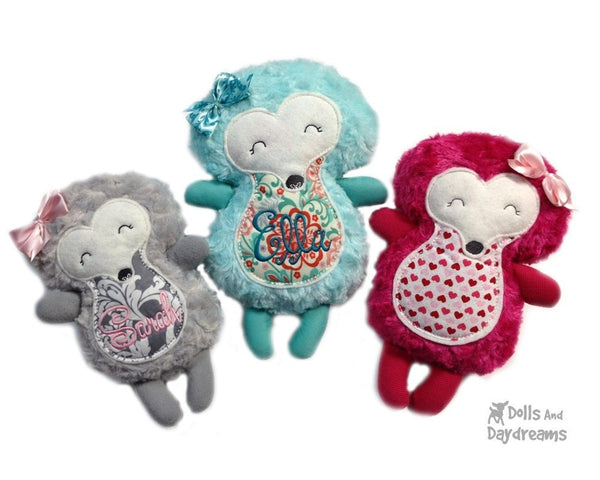 Embroidery Machine Hedgehog ITH Pattern - Dolls And Daydreams - 1