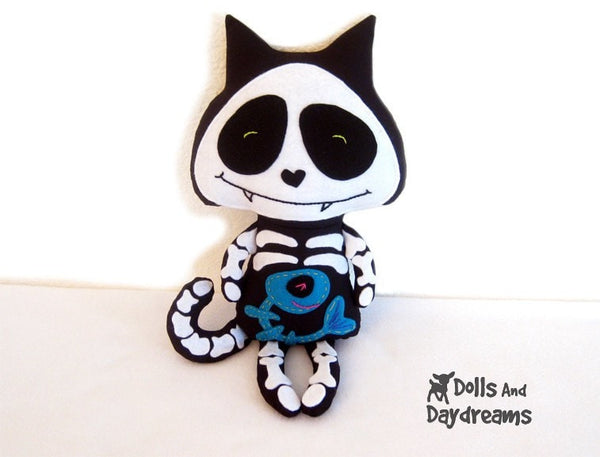 Skeleton Cat Sewing Pattern - Dolls And Daydreams - 2
