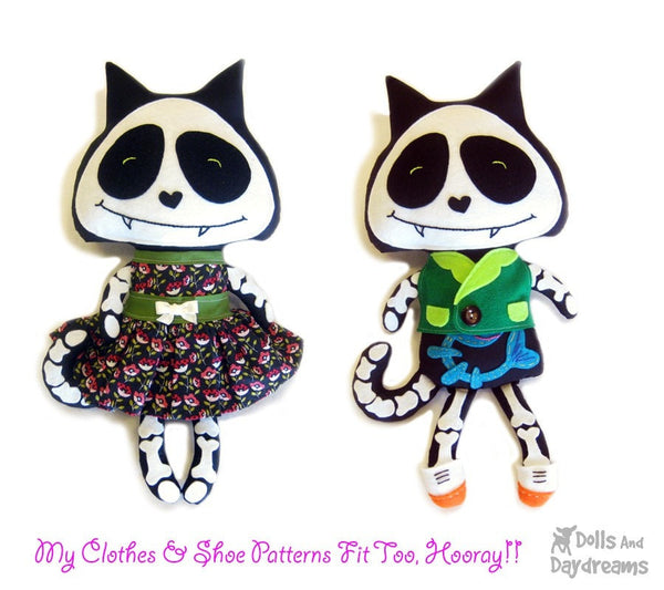 Skeleton Cat Sewing Pattern - Dolls And Daydreams - 4