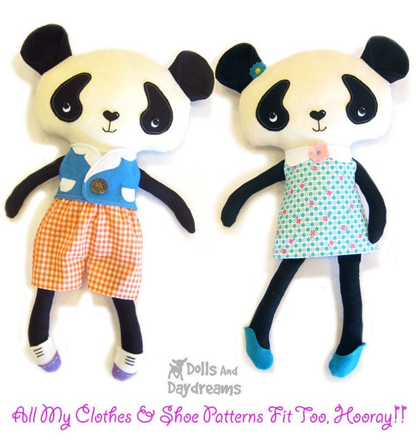 Panda Sewing Pattern - Dolls And Daydreams - 5