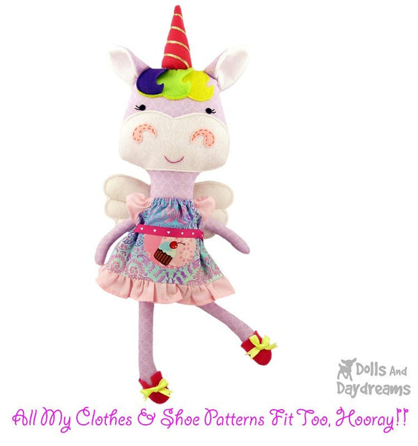 Unicorn Sewing Pattern - Dolls And Daydreams - 4