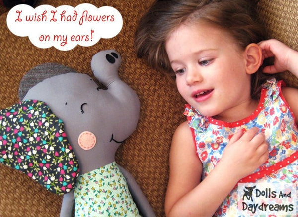 Elephant Sewing Pattern - Dolls And Daydreams - 4