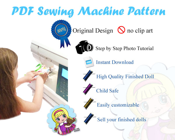 Dress Up Doll Sewing Pattern