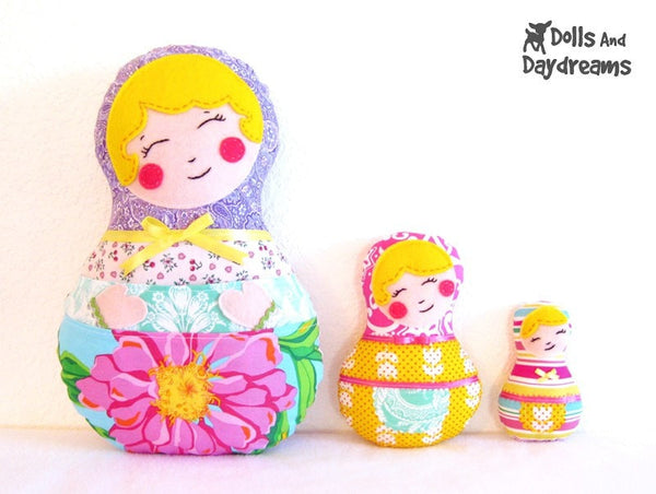 Babushka Sewing Pattern Set of 3 - Dolls And Daydreams - 3