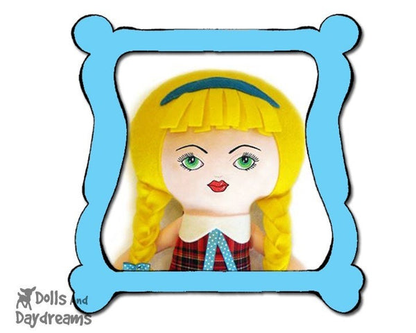 Machine Embroidery Art Doll Face Pattern - Dolls And Daydreams - 1