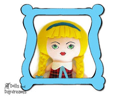 Machine Embroidery Art Doll Face Pattern