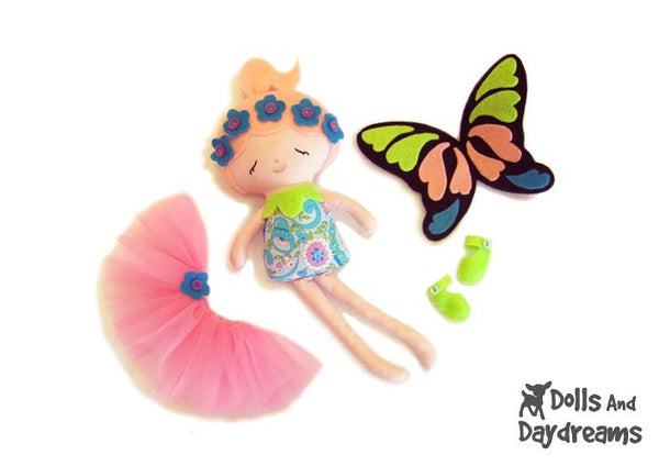 Flower Fairy Sewing Pattern - Dolls And Daydreams - 5