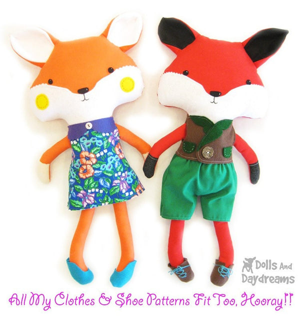 Fox Sewing Pattern - Dolls And Daydreams - 4