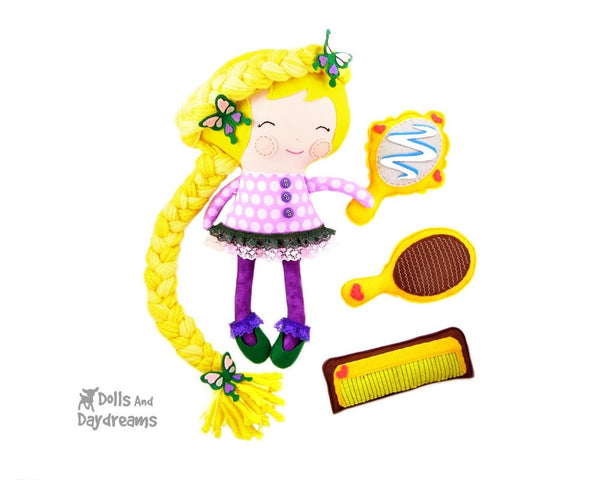 Rapunzel Sewing Pattern - Dolls And Daydreams - 1