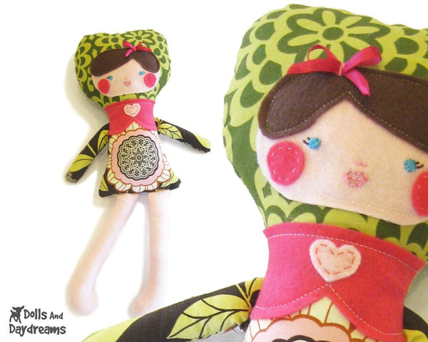 Applique Face Dolls Sewing Pattern - Dolls And Daydreams - 2